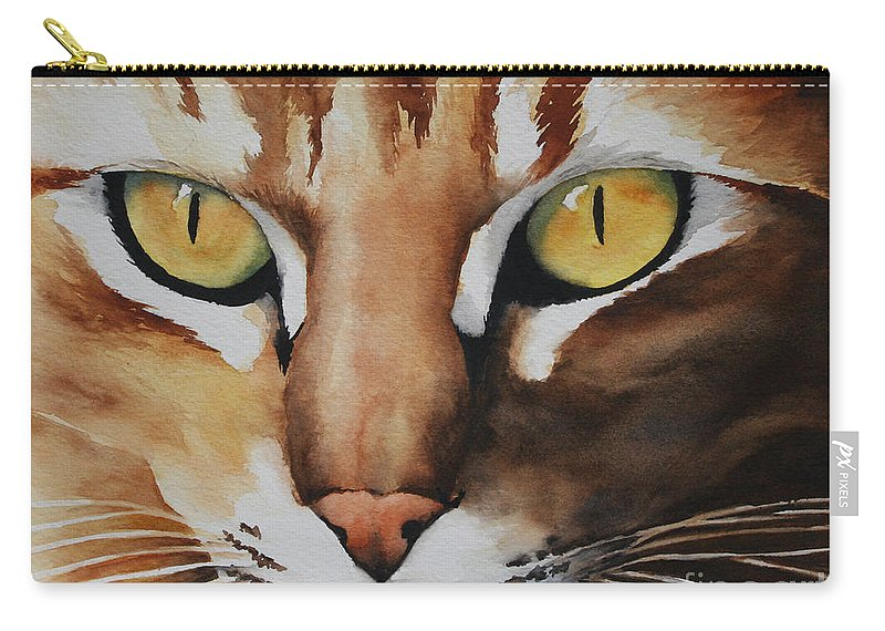 Painting Carry-all Pouch featuring the painting Mouse by Glenyse Henschel