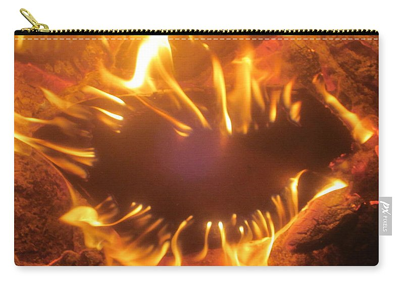 Campfire Carry-all Pouch featuring the photograph Mouth In The Flame by Jo Jurkiewicz