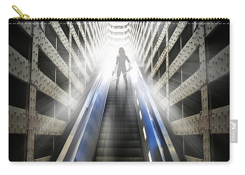 Abstract Carry-all Pouch featuring the digital art Move Into The Light by Nathan Wright