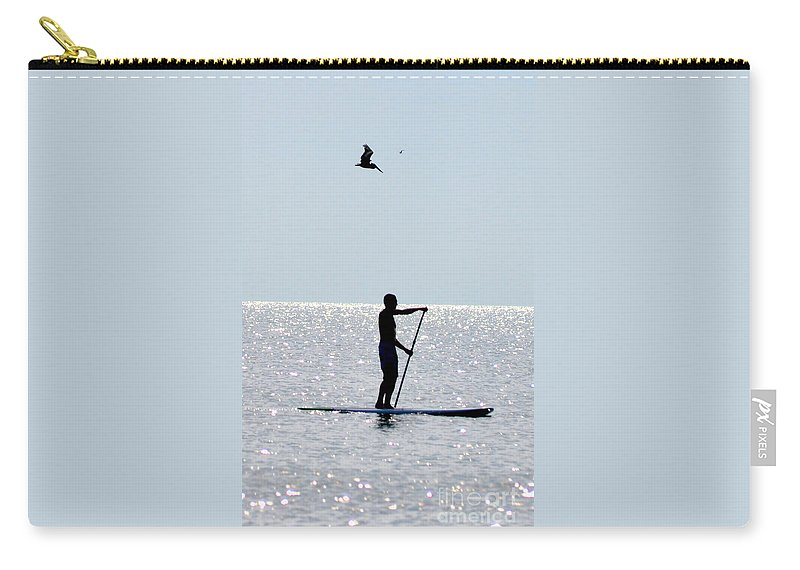 Ocean Carry-all Pouch featuring the photograph Moving At Rest by Lydia Holly