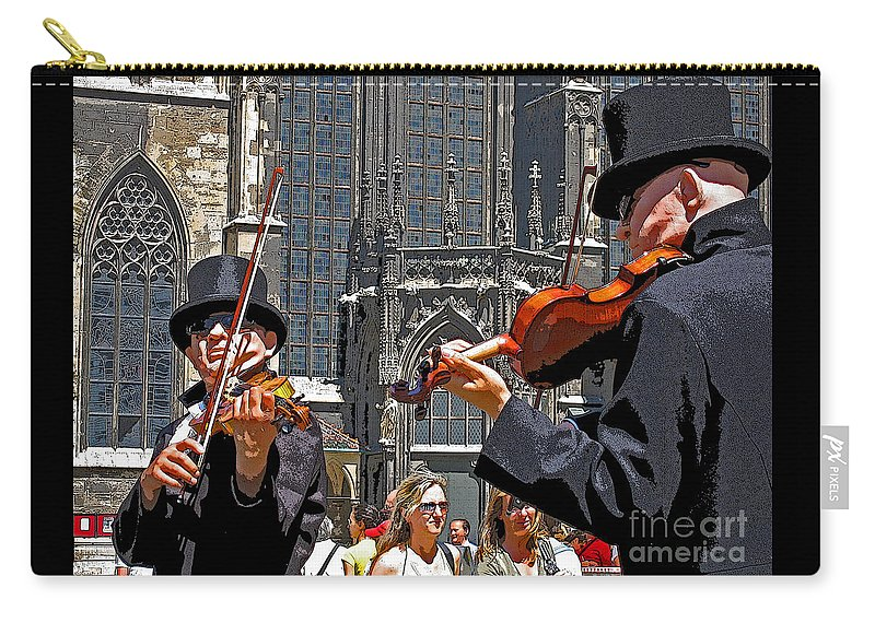 Buskers Carry-all Pouch featuring the photograph Mozart In Masquerade by Ann Horn