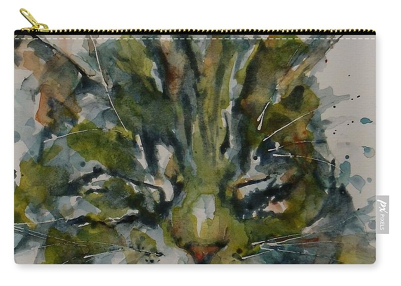 Cat Carry-all Pouch featuring the painting Mr Bojangles by Paul Lovering