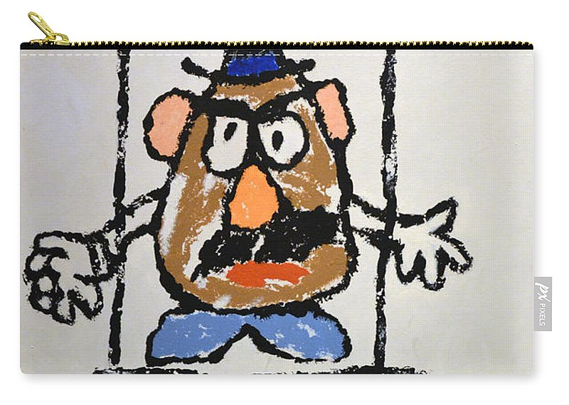 Bad Potato Carry-all Pouch featuring the photograph Mr. Potato Head Gone Bad by Robert Meanor
