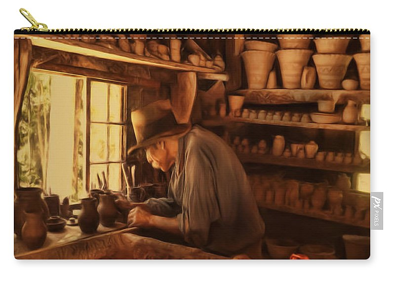 Pottery Carry-all Pouch featuring the photograph Mr. Potter by Lourry Legarde