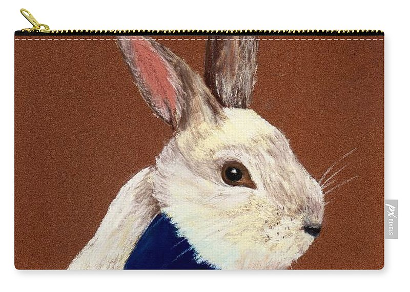 Rabbit Carry-all Pouch featuring the painting Mr. Rabbit by Anastasiya Malakhova