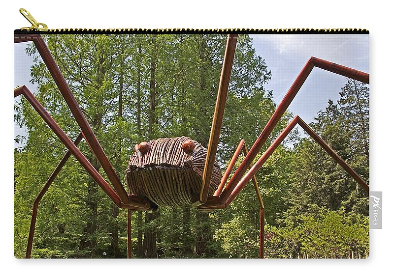 Spider Carry-all Pouch featuring the photograph Mr. Spider by Alice Gipson