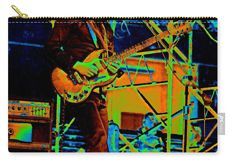 Frank Marino Carry-all Pouch featuring the photograph Mrdog #26 Enhanced In Cosmicolors 2 With Text by Ben Upham