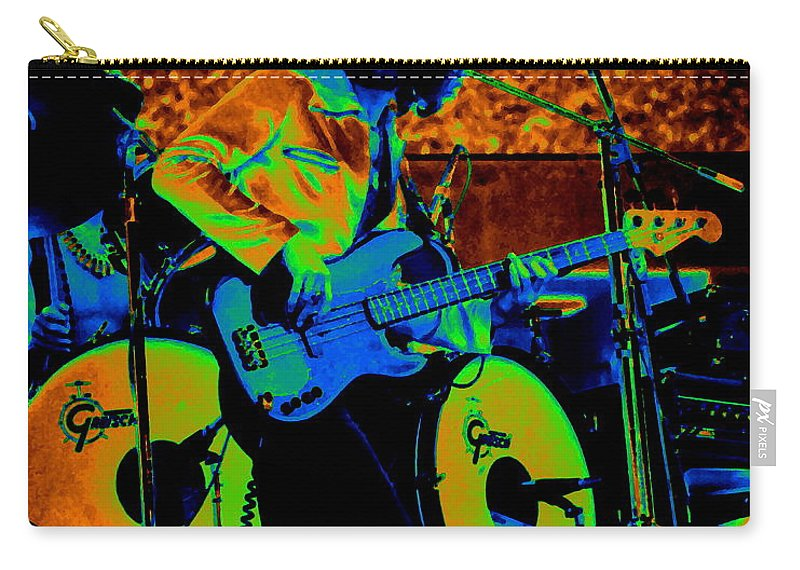 Mahogany Rush Carry-all Pouch featuring the photograph Mrdog #65 Enhanced In Cosmicolors by Ben Upham