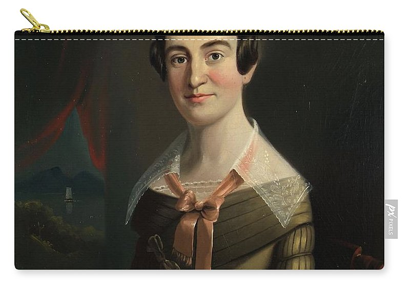 Female Carry-all Pouch featuring the painting Mrs. Eunice Hall Of Portland, Maine by William Matthew Prior