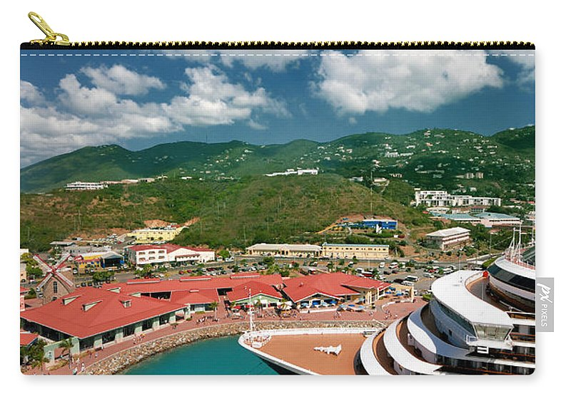 Caribbean Carry-all Pouch featuring the photograph Ms Noordam St Thomas Virgin Islands by Amy Cicconi