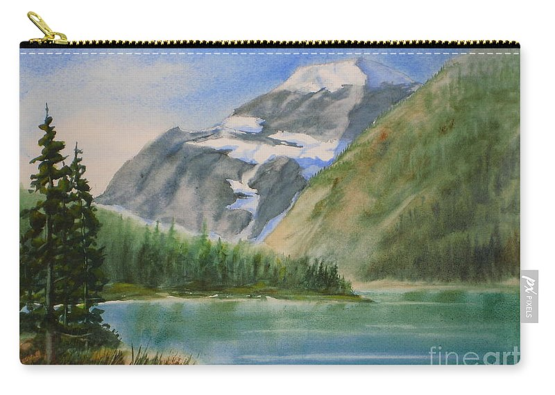 Canada Carry-all Pouch featuring the painting Mt. Edith Cavell W/c by Mohamed Hirji