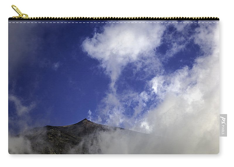 Mount Etna Carry-all Pouch featuring the photograph Mt. Etna by Madeline Ellis