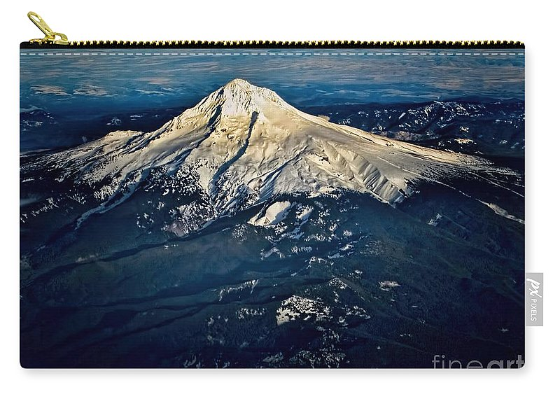 Mount Hood Carry-all Pouch featuring the photograph Mt Hood by Jon Burch Photography