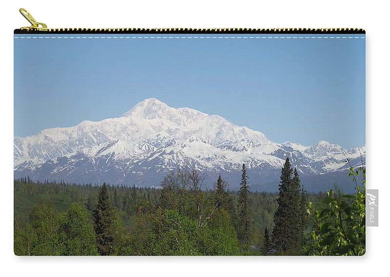 Mt. Mckinley Carry-all Pouch featuring the photograph Mt. Mckinley 1 by Mike Wheeler