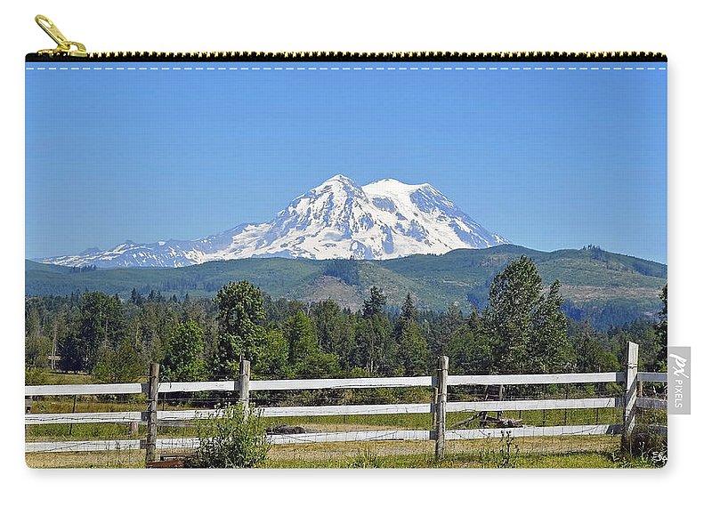 Mt. Rainier Carry-all Pouch featuring the photograph Mt. Rainier by Shanna Hyatt