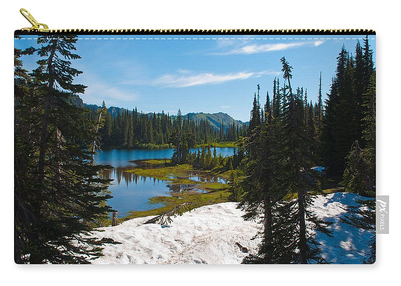 Reflection Lake Carry-all Pouch featuring the photograph Mt. Rainier Wilderness by Tikvah's Hope