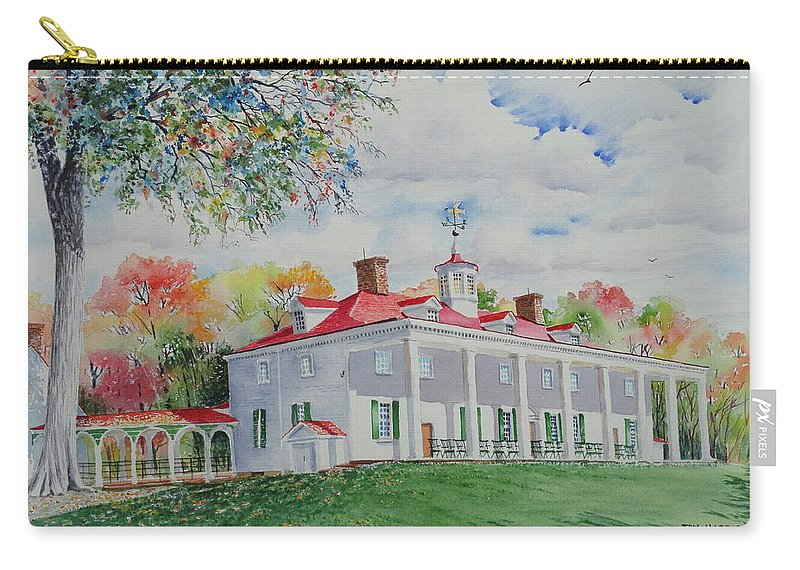 Mount Vernon Carry-all Pouch featuring the painting Mt. Vernon In The Fall by Tom Harris