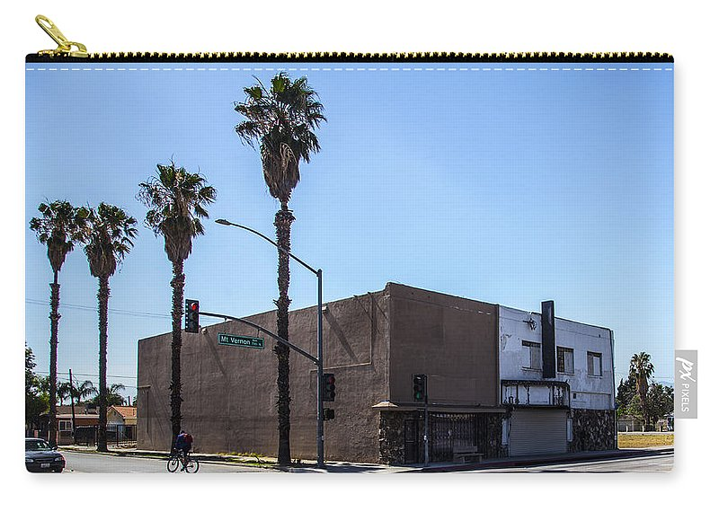 Route 66 Carry-all Pouch featuring the photograph Mt. Vernon Street by Angus Hooper Iii