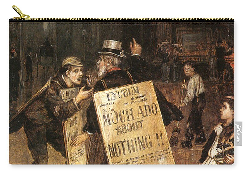Augustus Edwin Mulready Carry-all Pouch featuring the digital art Much Ado About Nothing by Augustus Edwin Mulready