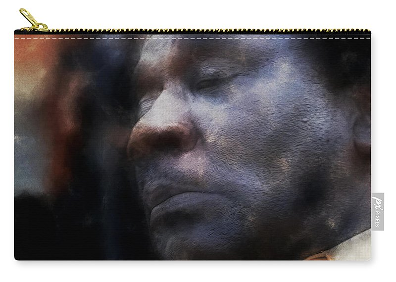 Chicago Blues Festival Carry-all Pouch featuring the photograph Muddy Jr. Traveling Pigments Hp by David Lange