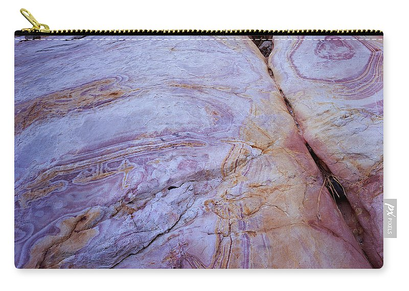 Nevada Carry-all Pouch featuring the photograph Muddy Mt. Sandstone B by Tom Daniel