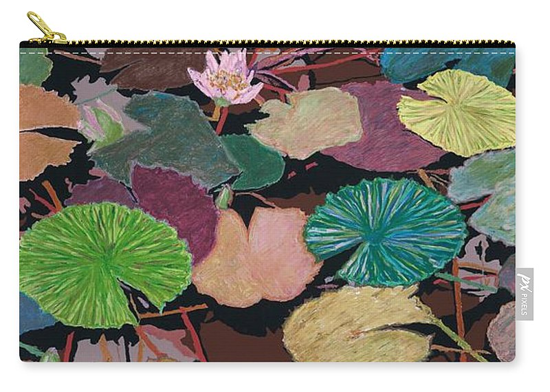 Landscape Carry-all Pouch featuring the painting Muddy Waters by Allan P Friedlander