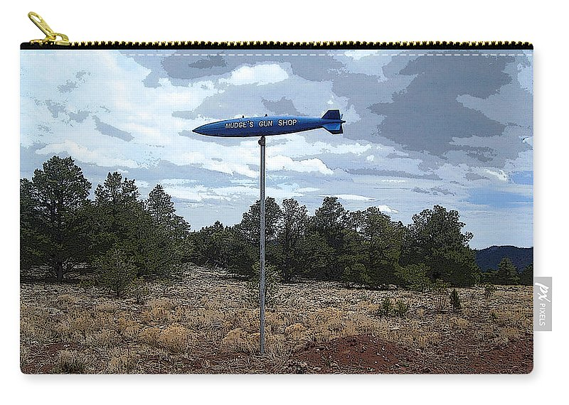 Landscape Carry-all Pouch featuring the photograph Mudge's Gun Shop by Lovina Wright