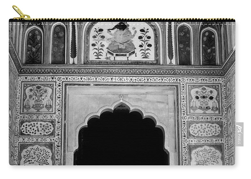 India Carry-all Pouch featuring the photograph Mughal Art Monochrome by Steve Harrington