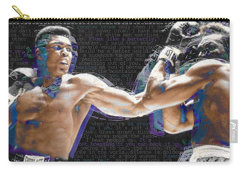 Muhammad Ali Carry-all Pouch featuring the painting Muhammad Ali by Tony Rubino