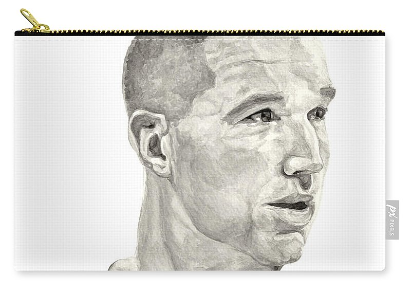 Chris Mullin Carry-all Pouch featuring the painting Mullin by Tamir Barkan