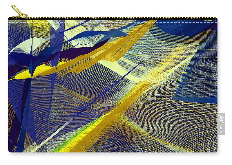 Mandala Carry-all Pouch featuring the digital art Multicolor Mesh by Joy McKenzie
