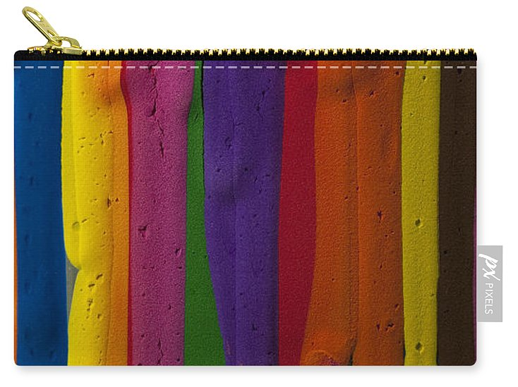 Abstract Carry-all Pouch featuring the photograph Multicolored Paint Can by Jim Corwin