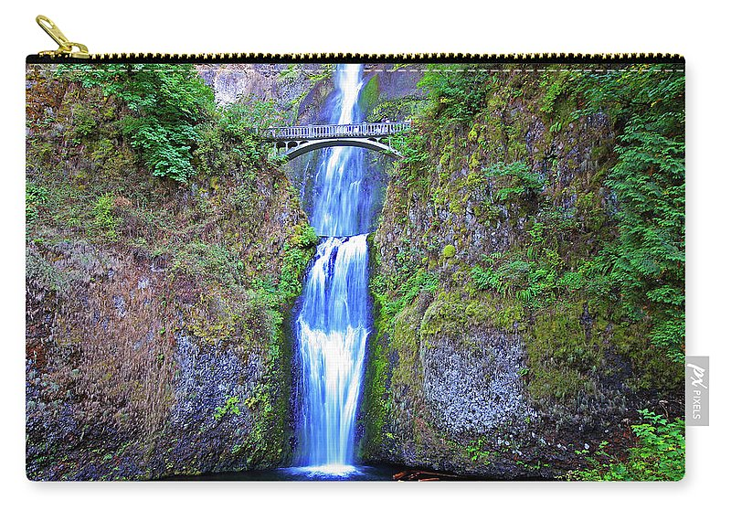 Waterfalls Carry-all Pouch featuring the photograph Multnomah Falls by Peter Tellone