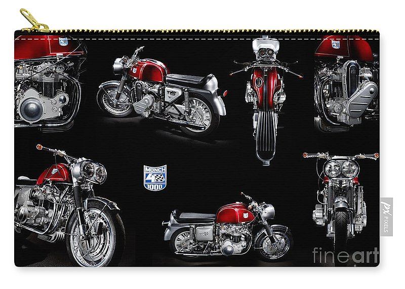Motorcycle Carry-all Pouch featuring the photograph Munch 4 1000 Tt by Frank Kletschkus