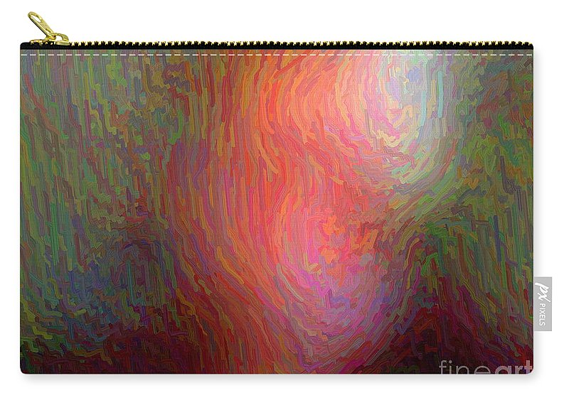 March 2011 Carry-all Pouch featuring the digital art Munchist I Cannot See Clearly by Frank Crescenti