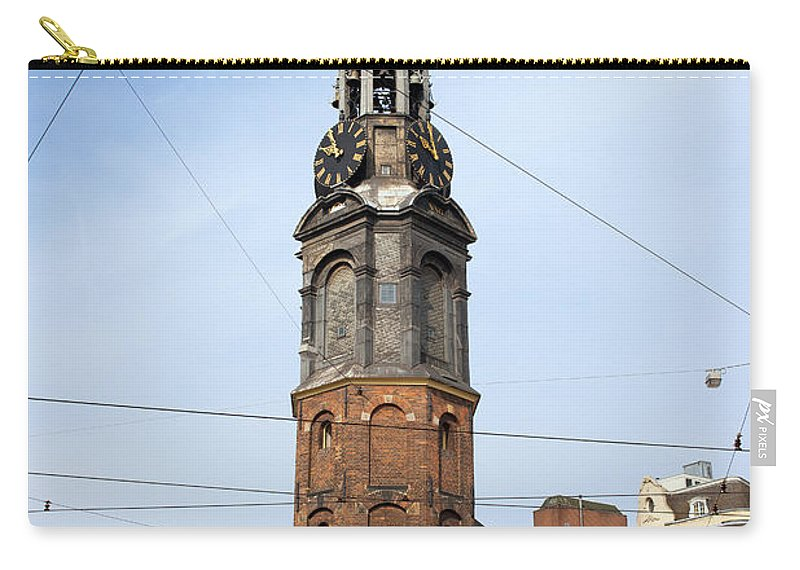 Amsterdam Carry-all Pouch featuring the photograph Munttoren In Amsterdam by Artur Bogacki