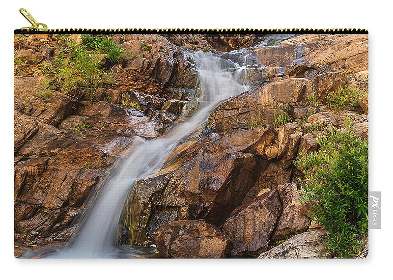 Giigmarie Carry-all Pouch featuring the photograph Murdock Basin Falls 2 by Gina Herbert