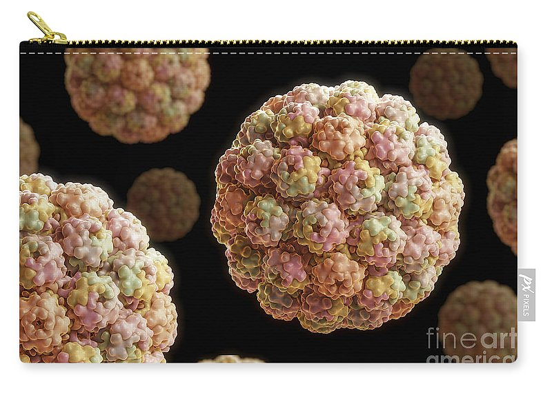 Sickness Carry-all Pouch featuring the photograph Murine Polyomavirus by Science Picture Co
