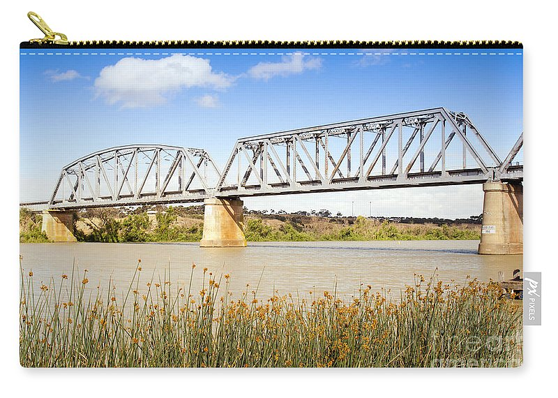 Bridge Carry-all Pouch featuring the photograph Murray Bridge by Tim Hester