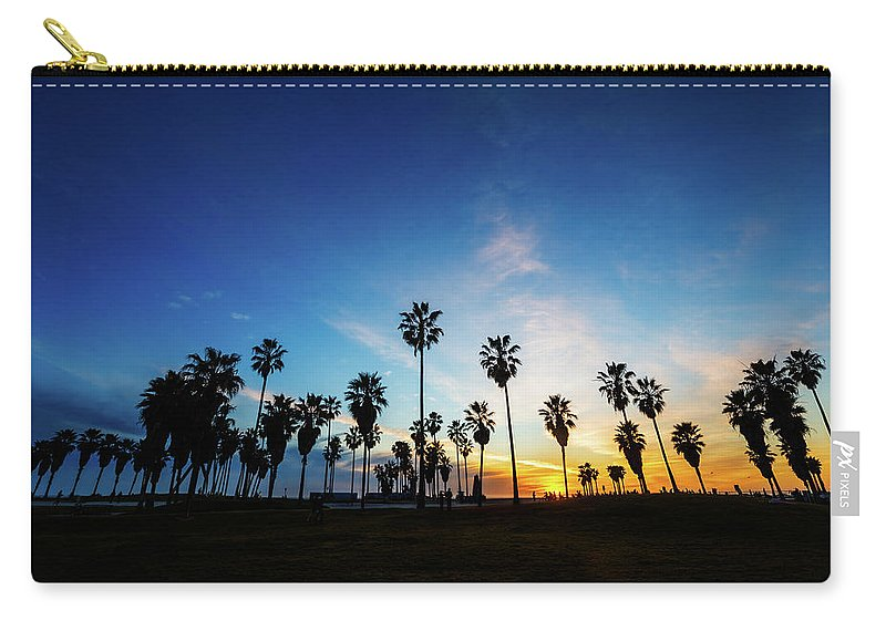 Shadow Carry-all Pouch featuring the photograph Muscle Beach At Dusk by Extreme-photographer