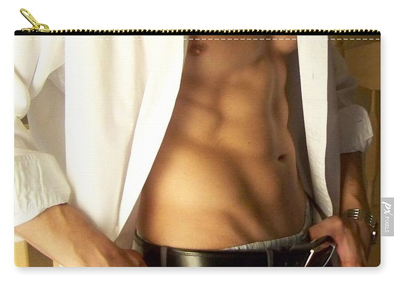 Male Abs Carry-all Pouch featuring the photograph Muscled Exec by Gary F