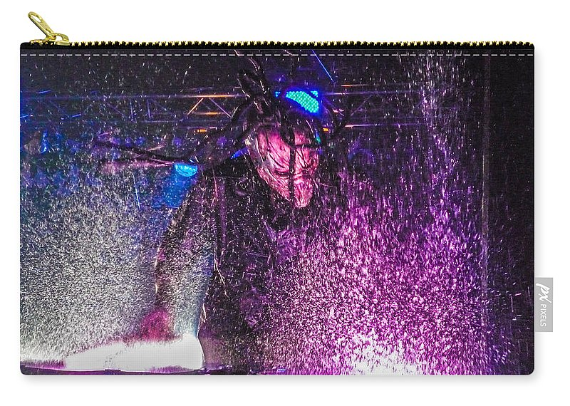 Mushroomhead Carry-all Pouch featuring the photograph Mushroomhead He'd 2 Hed 2 At Backstage Live by Josh Scanlon