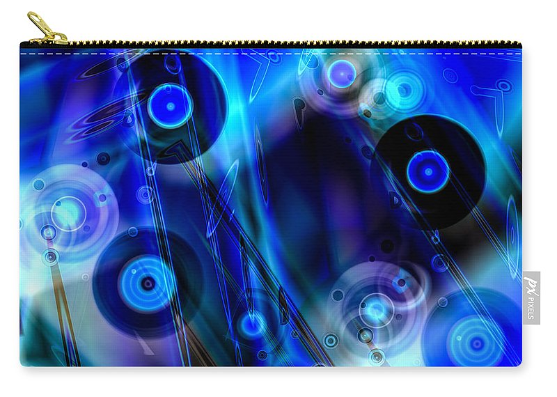 Music Carry-all Pouch featuring the digital art Music In The Air by Hakon Soreide