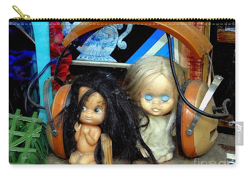 Dolls Carry-all Pouch featuring the photograph Music Sharing by Ed Weidman
