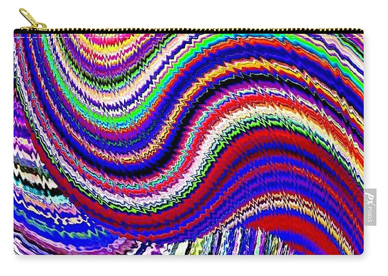 Abstract Carry-all Pouch featuring the digital art Music To The Eyes by Will Borden