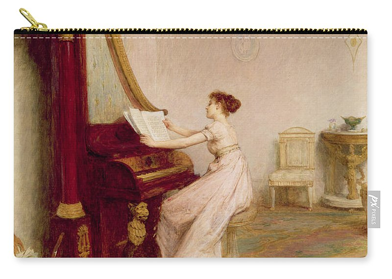 Interior Carry-all Pouch featuring the painting Music When Soft Voices Die, Vibrates by Sir William Quiller Orchardson