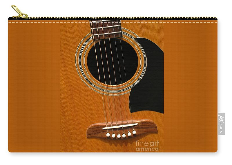 Guitar Carry-all Pouch featuring the photograph Musical Abstraction by Ann Horn