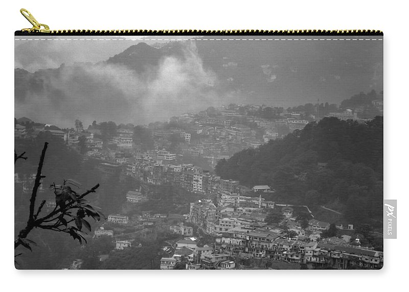 Wallpaper Buy Art Print Phone Case T-shirt Beautiful Duvet Case Pillow Tote Bags Shower Curtain Greeting Cards Mobile Phone Apple Android Nature India Hill Station Mussoorie Himalayas Salman Ravish Khan Carry-all Pouch featuring the photograph Mussoorie by Salman Ravish