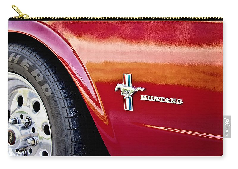 Mustang Carry-all Pouch featuring the photograph Mustang by Scott Pellegrin
