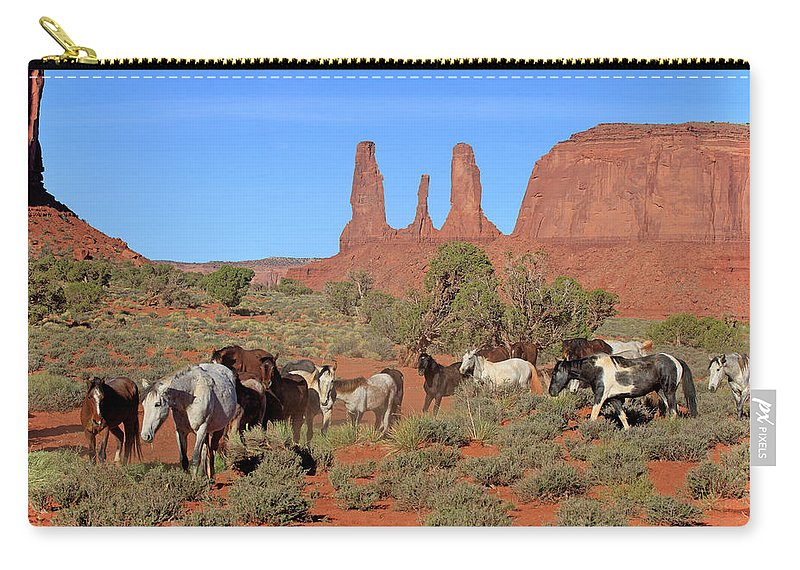 Scenics Carry-all Pouch featuring the photograph Mustang by Tier Und Naturfotografie J Und C Sohns